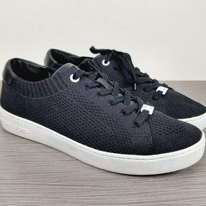 Michael Kors Skyler Lace Up Sneaker, Black Knit